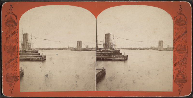 File:East River bridge towers, from Robert N. Dennis collection of stereoscopic views.png