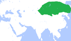 Greatest extent of the Eastern Turkic Khaganate (It probably did not reach the Pacific)