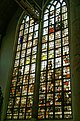 Edam - Grote Kerk - View NE on Stained Glass Window donated by the City of Haarlem.jpg