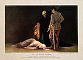 Edith Cavell wearing Red Cross uniform lying dead on the flo Wellcome V0006885.jpg