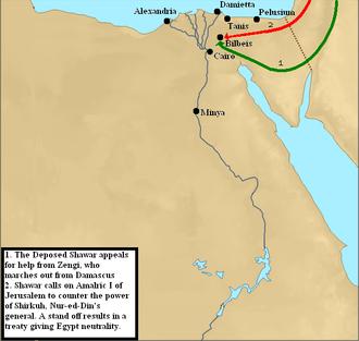 Crusader invasions of Egypt - Image: Egypt 2nd invasion