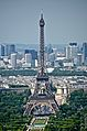 Eiffel Tower from the Tour Montparnasse 2, Paris May 2014.jpg