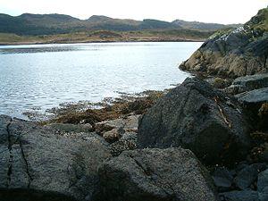 Eilean Rìgh - Looking south from Eilean Mhic Chrion to Eilean Rìgh