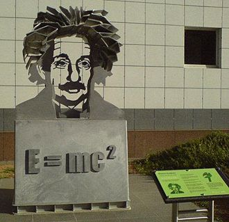 World Year of Physics 2005 - Statue at Questacon, Canberra, Australian Capital Territory, 2005