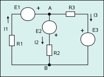 Figura 4: Ejemplo de red general: Circuito de dos mallas.