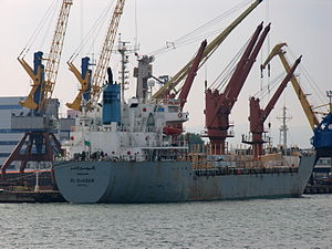 El Djazair - IMO 8606109 - Port of Novorossiysk, Russia 25-Jul-2005.jpg