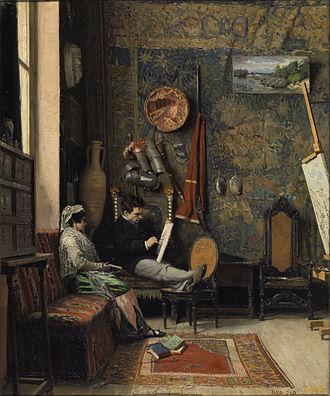 Casimiro Sainz - Resting (An Artist's Studio)