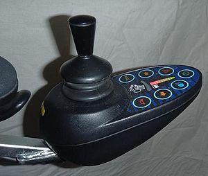 Motorized wheelchair - A typical joystick controller