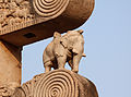 Elephant on East Torana, Sanchi 01.jpg