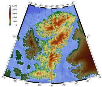 Ellesmere Island - Topography of Ellesmere Island