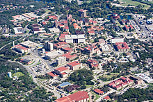 Aerial view of campus in 2009