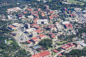 Texas State University - Aerial view of campus in 2009