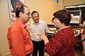 Emdadul Islam - Ganga Singh Rautela - Irina Kimovna Bashkirova - Exhibition Valentina Tereshkova - Birla Industrial & Technological Museum - Kolkata 2013-06-17 8820.JPG