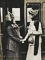 Emmeline Pankhurst and Constance Lytton at Waterloo Station, c.1910. (22907204721).jpg