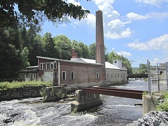 "Kayaderosseras - George West's ""Empire Mill"" along the creek at Rock City Falls"