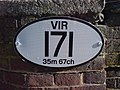 Engineers Line Reference Plate, Gillingham Station - geograph.org.uk - 1161401.jpg