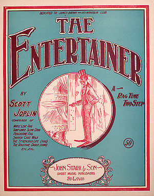 """The Entertainer"" sheet music cover"