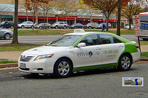 EnviroCAB - Toyota Camry Hybrid taxi from EnvironCAB  in Pentagon City.