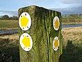 Er^ Which Way^ Waymarks near John O'Gaunt's Castle - geograph.org.uk - 644447.jpg