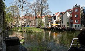 Gera (river) - Image: Erfurt.Gera Fluss