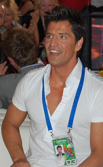 Sakis Rouvas - Rouvas backstage at the Eurovision Song Contest 2009 in Moscow, where he represented Greece