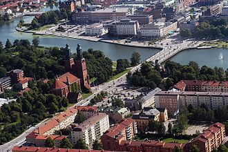 Eskilstuna - Aerial photo of Eskilstuna in 2004.