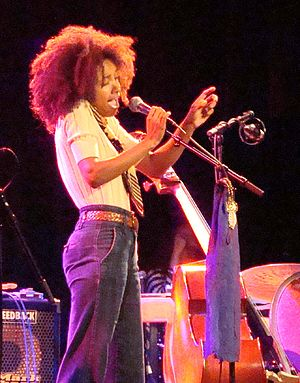 Esperanza Spalding - Spalding interacting with the audience at the Northsea Jazz Festival, 2009.