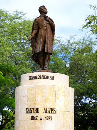 Castro Alves - A statue of Castro Alves at his hometown, the homonymous city