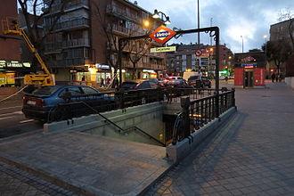 Carpetana (Madrid Metro) - Image: Estación de Carpetana