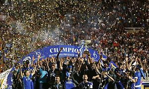 Esteghlal Khuzestan F.C. - Esteghlal Khuzestan players celebrating after winning league title in 2015–16 season