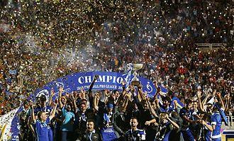 Esteghlal Khuzestan F.C. - Esteghlal Khuzestan players celebrating after winning league title in 2015–16 season