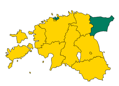 Estonian Election 2015 Largest Party By Electoral Districts.png