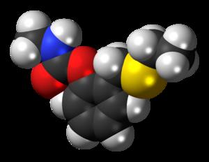 Ethiofencarb - Space-filling model of ethiofencarb