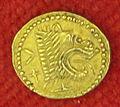Etruschi, populonia, moneta d'oro da 25 unità, 400 ac ca..JPG