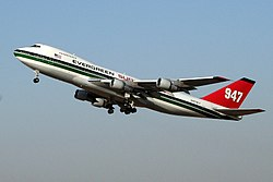 Evergreen Supertanker 947 N470EV take-off from Ben Gurion 20071116.jpg