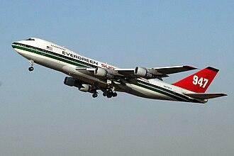 747 Supertanker - Image: Evergreen Supertanker 947 N470EV take off from Ben Gurion 20071116