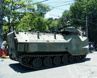 Complexo do Alemão - A Brazilian AAV on a street in the Complexo do Alemão, November 2010