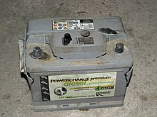 Car Lead Acid Battery After Explosion Showing Brittle Ing In Casing Ends