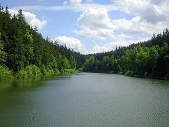 Head (hydrology) - View looking towards the head of the Fürstenteich reservoir