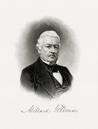 BEP engraved portrait of Fillmore as President.