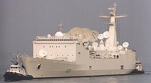 Tracking ship - The Monge (A601) of the French Navy, 1999.