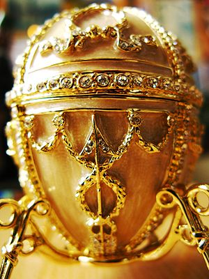 Replica of Faberge egg.