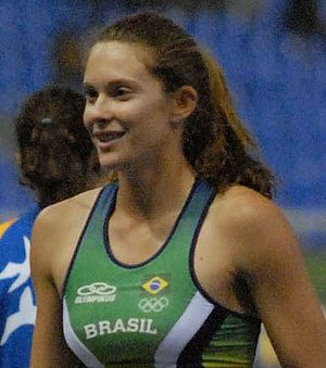 2007 South American Championships in Athletics - Brazilian pole vaulter Fabiana Murer broke the championship record