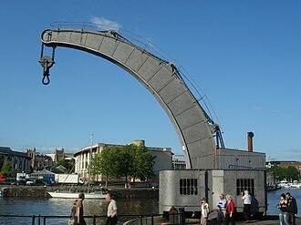 Steam crane - Fairbairn steam crane in Bristol