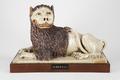 Fajans, lejon på sockel, 1700-tal - Hallwylska museet - 90482.tif