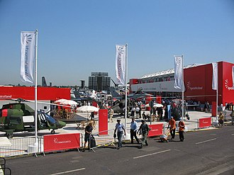 Farnborough Airshow - The AgustaWestland stand, 2006