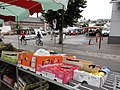 Fauville-en-Caux (Seine-Mar.) place Gaston Sanson, marché du mercredi (01).jpg