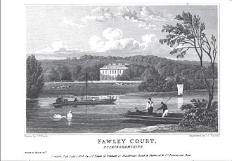 Sambrooke Freeman - Fawley Court, the home of Sambrooke Freeman, viewed from the River Thames