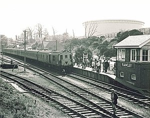 Fawley railway station - Private charter train at Fawley, 23 April 1978