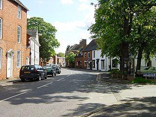 Feckenham village and civil parish in the Borough of Redditch in Worcestershire, England